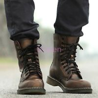 Punk Hot Mens Lace Up Combat Military Rock Retro Boots Trendy Shoes Army British