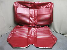 67 Mustang Convertible Standard Rear Bench Seat Upholstery Reproduction Red TMI