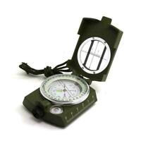New Professional Military Army Metal Sighting Compass Hiking Camping BEST Z1T3