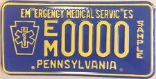 Penn PA EMERGENCY MEDICAL SERVICES license plate EMT EMS Rescue Technician Fire