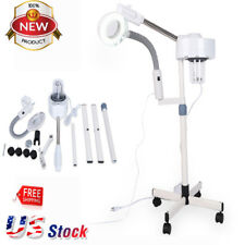 Pro 2 in 1 Facial Steamer & Magnifying Lamp Hot Ozone Machine Spa Salon Beauty