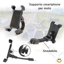 SUPPORTO PORTA CELLULARE PER MOTO SCOOTER BIKE SNODABILE UNIVERSALE SMARTPHONE