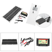 10W Flexible Solar Panel Kit with 10A 12/24V Controller For RV Boats Car Battery