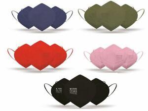 5x FFP2 NR Masken Atemschutzmasken Farbe wählbar (EN 149:2001+A1:2009, CE1463)