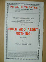 PHOENIX THEATRE PROGRAMME- MUCH ADO ABOUT NOTHING by William Shakespeare