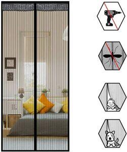 USPANIU Magnetic Fly Screens for Door Screen Mesh Black Curtain Fits for Door