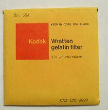 Kodak wratten GELATINA Filtro NO 59a 7.6cm OR 75mm Cuadrado