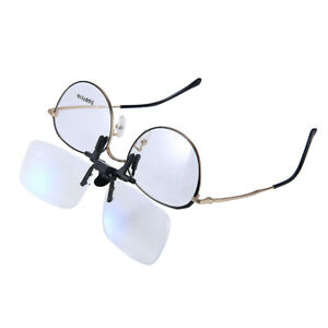 2.5X Clip On Flip Up Magnifying Glasses Spectacles Magnification Magnifier Tools