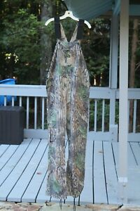 Vtg Spartan Realtree Bib Overalls XL extra large hunting camo button fly