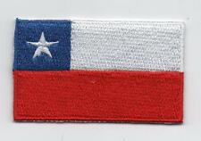 Embroidered CHILE Flag Iron on Sew on Patch Badge HIGH QUALITY APPLIQUE