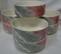 VILLEROY AND BOCH COLLAGE GEOMETRIC PATTERN SOUP/CEREAL BOWLS PRICE FOR 1 EUC