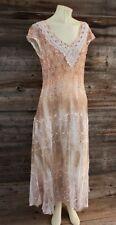 Reba Orange Sheer Lace Dress Size XL