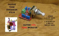 TONE MONSTER PTE-B Passive Tone Enhancer Bass Guitar Bypass + 5 Filters