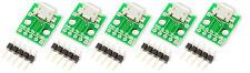 5 Stück Micro USB auf 2,54mm Breadboard-Adapter für Arduino Prototyping