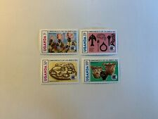 UGANDA 1983 MNH COMMONWEALTH DAY VILLAGE DANCERS DRUMS CURRENCY