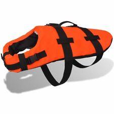 vidaXL Dog Rescue Vest L Orange Swimming Float Jacket Life Preserver Apparel