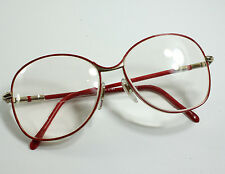 Retro 1980's Red Big Thin Round Secretary Sexy Fashion EyeGlasses Hudson Z-87