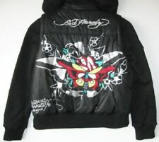 "Ed Hardy Girls Vintage Tattoo Black ""Butterfly"" Hoodie/Vest (XL) NWT"