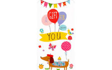 MONEY WALLET Any Occasion A Gift For You Sausage Dog Dachshund + Envelope
