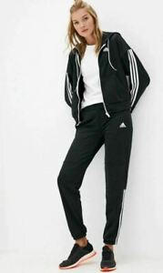 new adidas Game Time AEROREADY women's sz S Track Suit Set Pants + Jacket black
