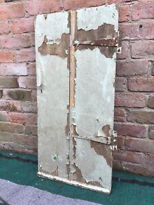 "Antique Reclaimed 2 Plank Cupboard / Cottage Door 37 1/2"" x 18 1/2"" with hinges"