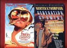 2 Hunter S. Thompson books: Fear and Loathing in Las Vegas + Generation of Swine