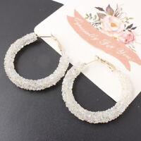 Fashion Round Women Earrings Crystal Geometric Hoop Earrings Jewelry Gift