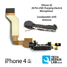 NEW Replacement iPhone 4S Charging Dock/Port + Microphone & Loudspeaker - BLACK