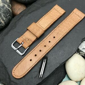 A-11 ORD Military Pigskin nos 5/8 Vintage Watch Band & Signed Elgin Logo Buckle