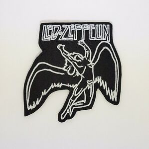 Led Zeppelin Patch - Iron On Badge Embroidered Motif - Rock Band Angel #287