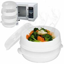 New 2 Tier Microwave  Steamer Perfect For Cooking Vegetable Fish Shellfish BNIB