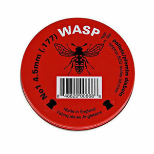 Wasp .177 / 4.5mm Red Domed Pest Control Airgun Rifle Pellets - Choose Quantity