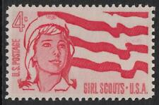 Scott 1199- Girl Scouts, 50 Years- MNH 4c 1962- unused mint stamp