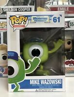 ⭐️Monsters University- Mike Wazowski #61 POP DISNEY Funko Pop Vinyl +Protector⭐️