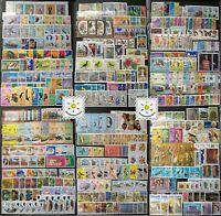 Worldwide Stamp Collection MNH - 100 Full Sets from 60 Different Countries &Gift