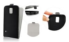 Housse Etui Slim Flexi Portefeuille Cuir Noir ~ Sony Xperia Z1 Compact / Z1 Mini