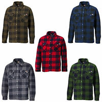 Dickies Portland Shirt Mens Fleece Padded Lumberjack Stud Work Jacket SH5000