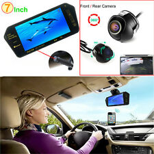 "7"" Bluetooth MP5 Car Rearview Mirror Monitor + Wireless 360 Degree Backup Camera"
