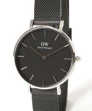 Daniel Wellington Classic Silver Petite Ashfield Black Mesh 28mm Ladies Watch