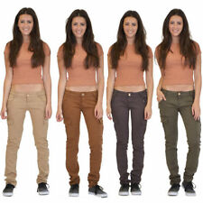 Cotton Blend Cargos 32L Trousers for Women