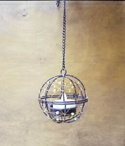 HD Designs Outdoors • 4 Hanging Wire Fireballs • For Indoor And Outdoor