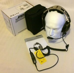 Bose X Lemo Plug Noise Cancelling Pilot Headset Aviation Flying Head Set BoseX 3