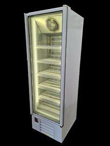 Lowe Commercial Display Freezer, Slim Single Glass Door Upright Freezer