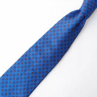 LUIGI BORRELLI NAPOLI Mens 100% Silk Neck Tie Luxury Geometric Blue Red Italy