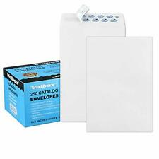 New listing ValBox 6x9 Self Seal Security Catalog Envelopes 250 Count Small White Envelopes
