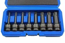 Us Pro 8pc 1/2  long Impact Torx TRX-Star Socket Bit Set T30-T80 Cr BERGEN 3315