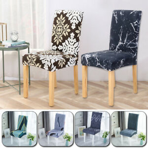 Universal Dining Stretch Chair Covers Removable Slipcovers Wedding Banquet Decor