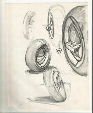 Mitch Byrd Monowheel Drawings Monocycle Original Comic Book Sketch Art Design