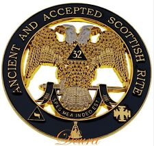 Masonic - 32nd 32 Degree Wings Down Scottish Rite Car Emblem DME-100