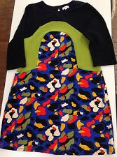 Adore Brand Sweater Dress Size Large Color Block Abstract Knee Length 3/4 Sleeve